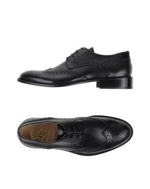 Обувь на шнурках VIA DEI CALZAIUOLI. Цвет: черный