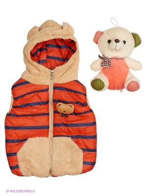 Жилет Happy Bear. Цвет: оранжевый