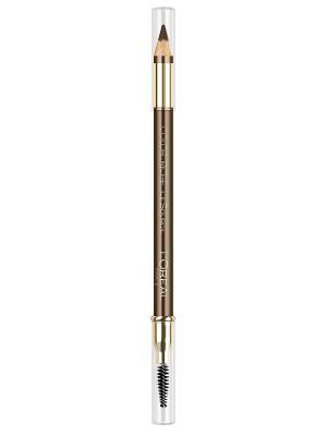 Карандаш для бровей Brow Artist, оттенок 303, темно-коричневый, 5 г L'Oreal Paris. Цвет: темно-коричневый