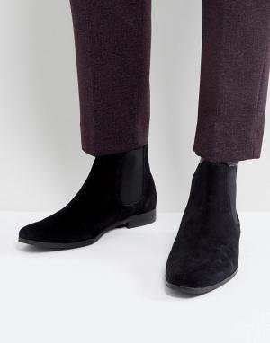 Zign Черные замшевые ботинки челси. Цвет: черный
