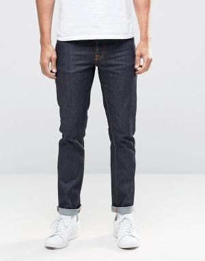 Nudie Jeans Темно-синие джинсы слим GrimTim. Цвет: темно-синий