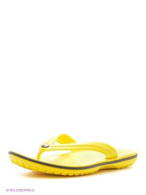 Пантолеты CROCS. Цвет: желтый