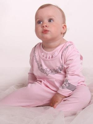 Ползунки Lucky Child. Цвет: розовый