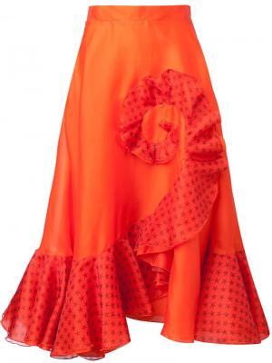Юбка Dora Holly Fulton. Цвет: жёлтый и оранжевый