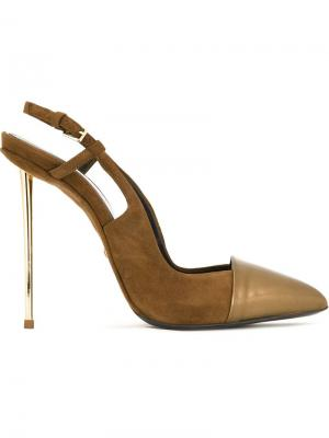 Туфли с ремешком на пятке Marco Proietti Design. Цвет: коричневый