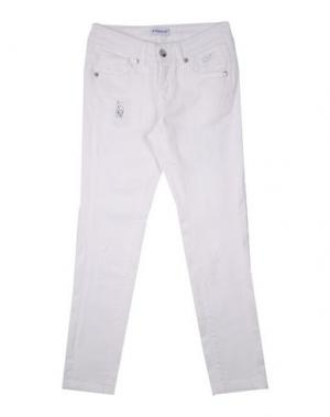 Джинсовые брюки PINKO UP. Цвет: белый