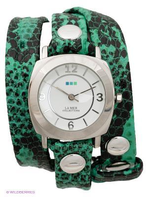 Часы La Mer Collections. Цвет: зеленый, черный