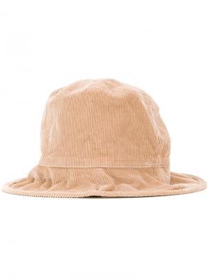 Вельветовая шляпа Kijima Takayuki. Цвет: коричневый