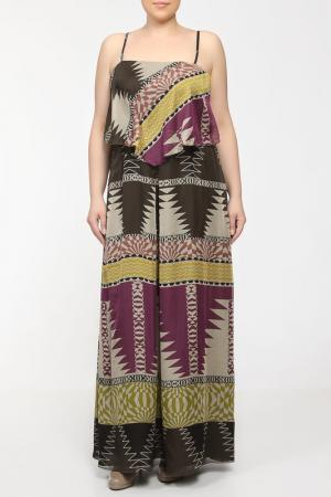 Платье For.Me Elena Miro. Цвет: коричневый, желтый, сиреневый