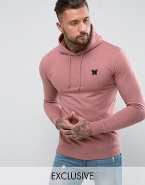 Good For Nothing Худи розового цвета с логотипом на груди. Цвет: розовый