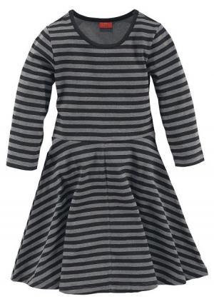Платье Colors for Life. Цвет: серый/черный