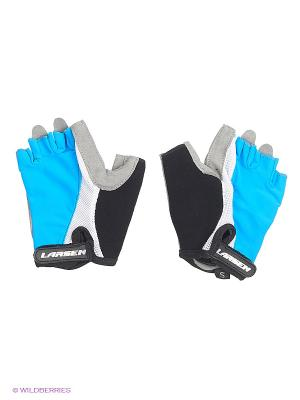 Велоперчатки Larsen. Цвет: голубой