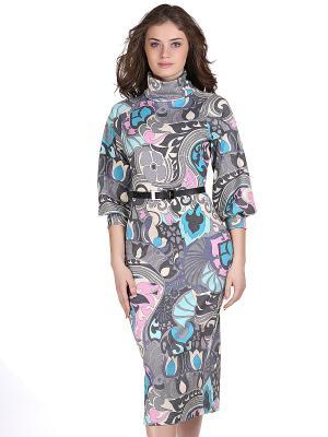 Платье OLIVEGREY. Цвет: серый, голубой, розовый