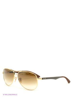 Очки солнцезащитные Ray Ban. Цвет: светло-коричневый