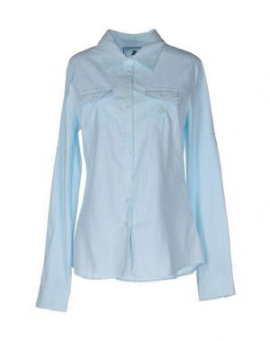 Pубашка DUCK FARM. Цвет: небесно-голубой