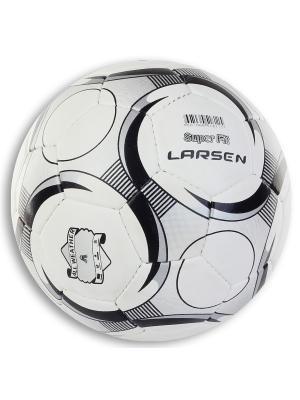 Мяч футбольный  SuperFit Larsen. Цвет: черный, белый