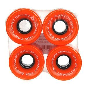 Колеса для скейтборда лонгборда  Shelby Orange 78A 59 mm Eastcoast. Цвет: оранжевый