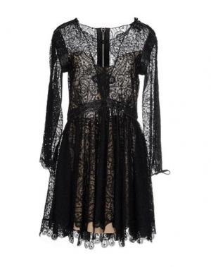 Короткое платье KRISTIAN AADNEVIK. Цвет: черный