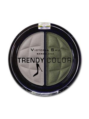 Тени для век TRENDY COLOR, 437 Victoria Shu. Цвет: зеленый