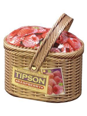 Чай Лукошко Малина, 80 гр Tipson. Цвет: светло-коричневый, розовый