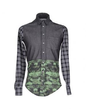 Джинсовая рубашка LEITMOTIV. Цвет: серый
