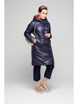 Пальто GOLD&ZISS. Цвет: темно-синий, красный