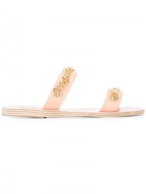 Босоножки Poulia Ancient Greek Sandals. Цвет: телесный