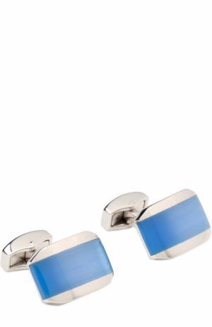 Запонки Tateossian. Цвет: голубой