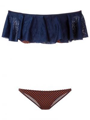 Round neck bikini set Gig. Цвет: синий