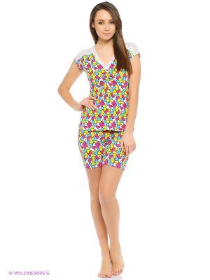 Пижама Далиса. Цвет: зеленый, голубой, малиновый