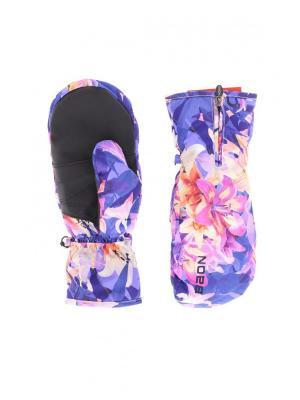 Варежки Baon. Цвет: синий, розовый
