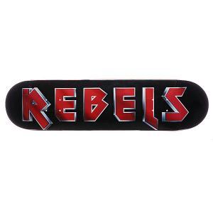 Дека для скейтборда  Logo Maiden Black/Red 31.75 x 8.1 (20.6 см) Rebels. Цвет: черный,красный