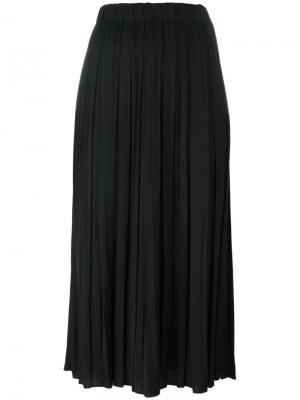 Плиссированная юбка Elizabeth And James. Цвет: чёрный