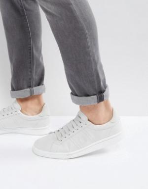Fred Perry Серые хлопковые кроссовки B721. Цвет: серый