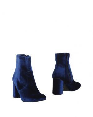 Полусапоги и высокие ботинки NOW. Цвет: синий
