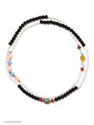 Браслет-колье Bijoux Land. Цвет: белый, черный, красный