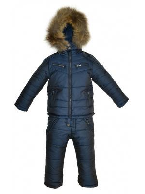 Комплект (куртка, полукомбинезон) BORELLI. Цвет: синий