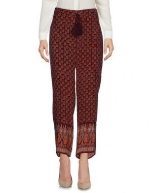 Повседневные брюки TALITHA. Цвет: баклажанный