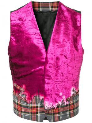 Жилет с градиентным узором Haider Ackermann. Цвет: розовый и фиолетовый