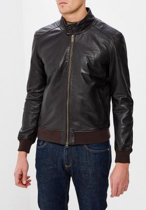 Куртка кожаная Bomboogie. Цвет: коричневый