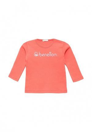 Лонгслив United Colors of Benetton. Цвет: коралловый