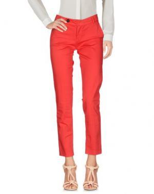 Повседневные брюки ANOTHER LABEL. Цвет: красный