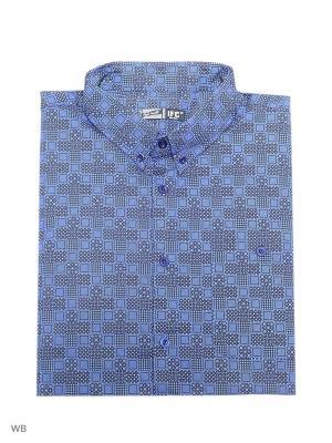 Рубашка IFC. Цвет: темно-синий, серый