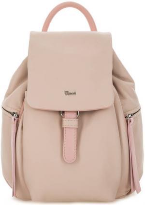 Кожаный рюкзак с откидным клапаном Bruno Rossi. Цвет: бежевый