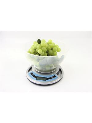 Весы кухонные с чашей ELTRON. Цвет: серебристый