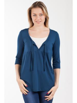 Блуза Прованс с секретом кормления Ням-Ням. Цвет: индиго