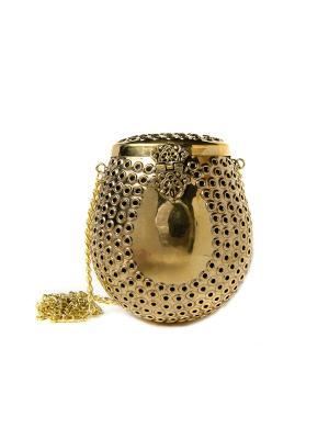 Сумка ручной работы из металла, Золото Indira. Цвет: желтый