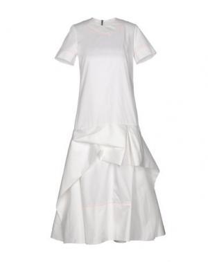 Платье длиной 3/4 ROKSANDA. Цвет: белый