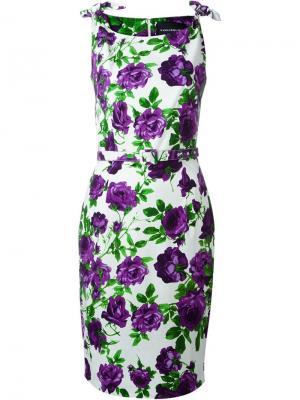Платье с цветочным принтом  Monroe Samantha Sung. Цвет: многоцветный