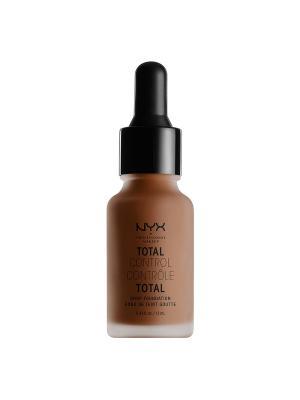 Стойкая тональная основа. TOTAL CONTROL DROP FOUNDATION - COCOA NYX PROFESSIONAL MAKEUP. Цвет: коричневый